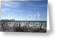 Some Fences Were Meant To Be Broken Greeting Card by Laurie D Lundquist