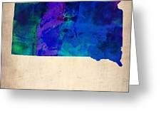 South Carolina Watercolor Map Greeting Card by Naxart Studio