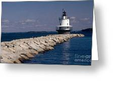 Spring Point Ledge Lighthouse Greeting Card by Bruce Roberts