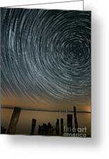 Star Trails 1 Greeting Card by Benjamin Reed