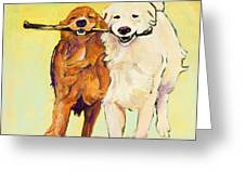 Stick With Me Greeting Card by Pat Saunders-White