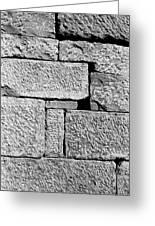 Stone Brick Wall Greeting Card by Jagdish Agarwal