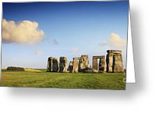Stonehenge Summer Evening Greeting Card by Colin and Linda McKie