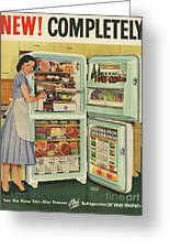 Stor-mor  1950s Uk Fridges Freezers Greeting Card by The Advertising Archives