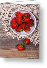 Strawberry Vintage Greeting Card by Jane Rix