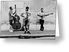 Street Musicians Of Rome Greeting Card by Mountain Dreams
