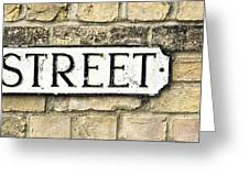 Street Sign Greeting Card by Tom Gowanlock
