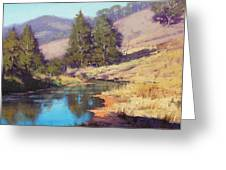 Summer River Greeting Card by Graham Gercken