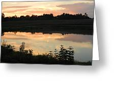 Sunset Reflection Greeting Card by Linda Brown