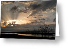 Sunset Greeting Card by Sandy Ramsey