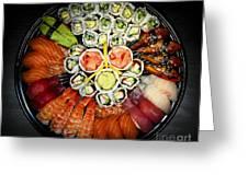 Sushi Party Tray Greeting Card by Elena Elisseeva