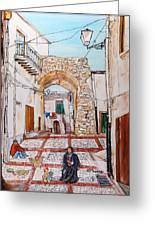 Sutera Rabato Antico Greeting Card by Loredana Messina
