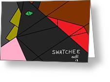 Swatchee Greeting Card by Anita Dale Livaditis