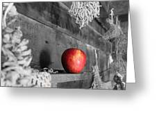 The Apple Greeting Card by Laurinda Bowling