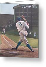 The Babe Sends One Out Greeting Card by Mark Haley