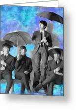 The Beatles Greeting Card by Paulette B Wright