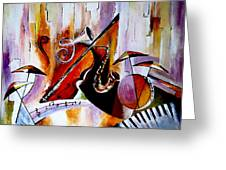 The Colour Of Music  Greeting Card by Indira Mukherji
