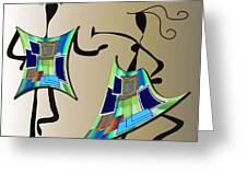 The Dancers Greeting Card by Iris Gelbart