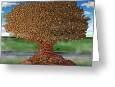 The Lending Tree Greeting Card by Paul Calabrese