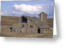 The Lewiston Breaks Barn Greeting Card by Doug Davidson