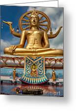 The Lord Buddha Greeting Card by Adrian Evans
