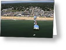 The Pier At Old Orchard Beach, Maine Greeting Card by Dave Cleaveland