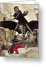 The Plague Greeting Card by Arnold Bocklin