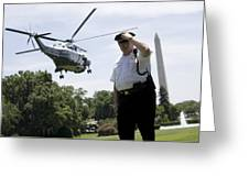 Marine One Greeting Card by JP Tripp