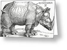 The Rhinoceros Greeting Card by Albrecht Durer
