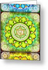 The Seven Chakras Series 2012 Greeting Card by Dirk Czarnota