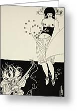 The Stomach Dance Greeting Card by Aubrey Beardsley