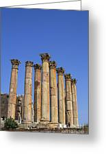 The Temple Of Artemis At Jerash Jordan Greeting Card by Robert Preston