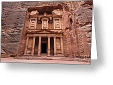 The Treasury In Petra Jordan Greeting Card by Robert Preston