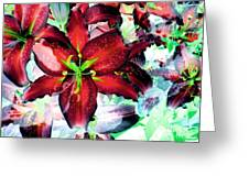 Tiger Lilies Greeting Card by Annie Zeno