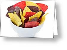 Tortilla Chips Greeting Card by Elena Elisseeva