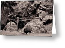 Traditional Cahuilla Indian Huts Greeting Card by Sandra Selle Rodriguez
