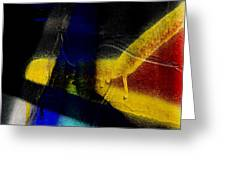 Train Art Abstract Greeting Card by Carol Leigh