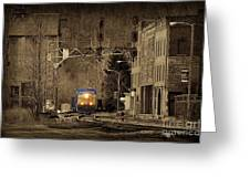 Train At Thurmond Wv Greeting Card by Dan Friend