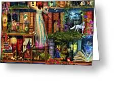 Treasure Hunt Book Shelf Greeting Card by Aimee Stewart