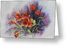 Tulips Greeting Card by Janet Felts