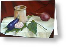 Tuscan Table Greeting Card by Pamela Allegretto