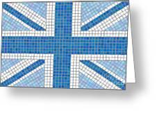 Union Jack Blue Greeting Card by Jane Rix