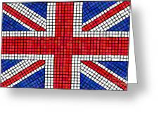 Union Jack mosaic Greeting Card by Jane Rix