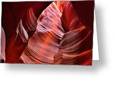 Upper Antelope Canyon Greeting Card by Robert Jensen