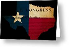 Usa American Texas State Map Outline With Grunge Effect Flag Ins Greeting Card by Matthew Gibson