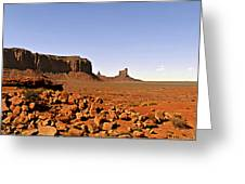 Utah's iconic Monument Valley Greeting Card by Christine Till