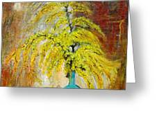 Vase Of Spring Greeting Card by Mauro Beniamino Muggianu
