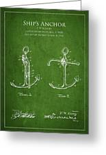 Vintage Anchor Patent Drawing From 1902 Greeting Card by Aged Pixel