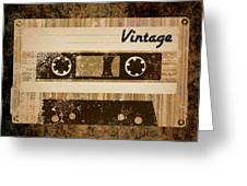 Vintage Cassette Greeting Card by Sara Ponte