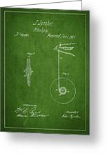 Vintage Yoyo Patent Drawing From 1867 Greeting Card by Aged Pixel
